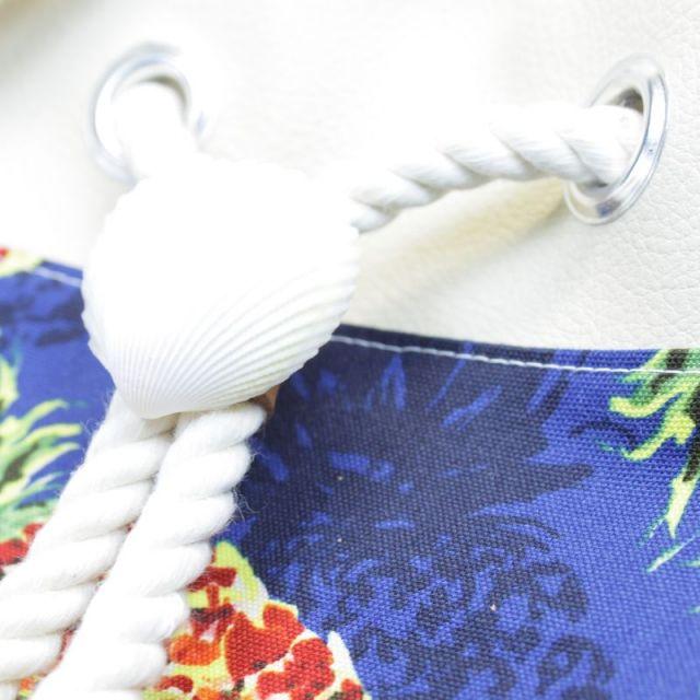 海/ビーチ/マリン/アクセサリー/リゾート/パームシーズン/ 沖縄/通販 /ハワイ/ハンドメイド/巾着ポーチ/パイナップル/ネイビー